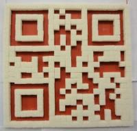QR код из сахарных кубиков