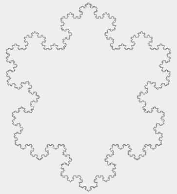 Снежинка Коха с количеством итераций 5