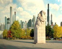 Сыктывкар - город в будущем - центральная Стефановская площадь, памятник Ленину