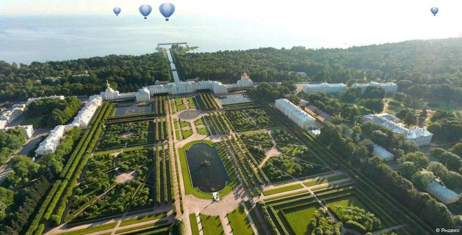 На Яндекс.Картах появились воздушные панорамы Санкт-Петербурга и Петергофа
