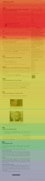 Отчет Yandex.Metrika Повидение - карта скроллинга - на примере нашего блога RATBAG.vkomi.ru