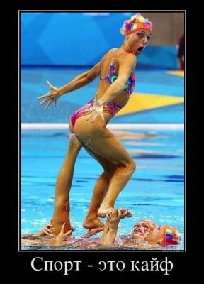 Спорт - это кайф! Синхронное плавание - ни с чем не сравнимое удовольствие!