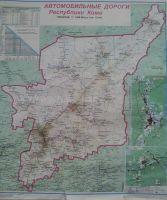 """Карта автодорог с """"кликами"""" пользователей"""