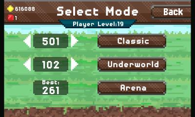Режимы игры (Pixel Kingdom screenshot)