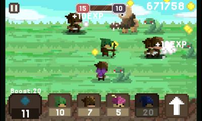 Летняя карта со змеями (Pixel Kingdom screenshot)