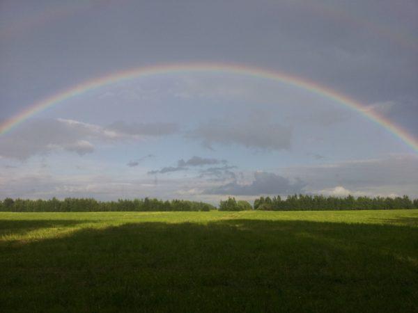 Полный полукруг радуги, двойная радуга